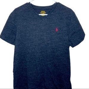 Polo Ralph Lauren v-neck gray heather tee